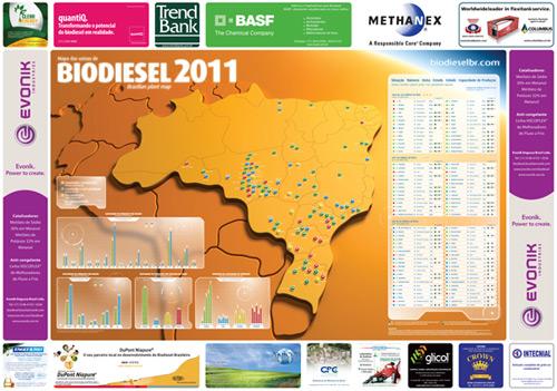 Mapa das Usinas de Biodiesel 2011-0